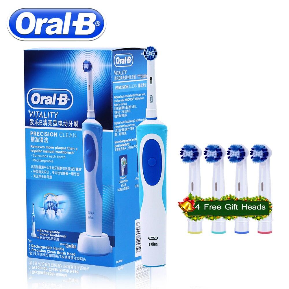 Rotativa Escova De Dentes Elétrica Oral B Vitalidade D12013 Recarregável Escova de Dentes Higiene Oral de Sonic Cabeças de Escova de Dentes Escova de Dente