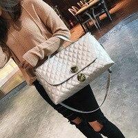 Luxus Marke Handtaschen Frauen Diamantgitter Umhängetaschen Plaid Leder Tote Crossbody Taschen Große Kapazität Bag Silber/Schwarz Bolsas