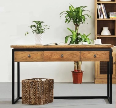 American Wood Computer Desk Desk Desk Vintage American Country To Do The  Old Wrought Iron Desk