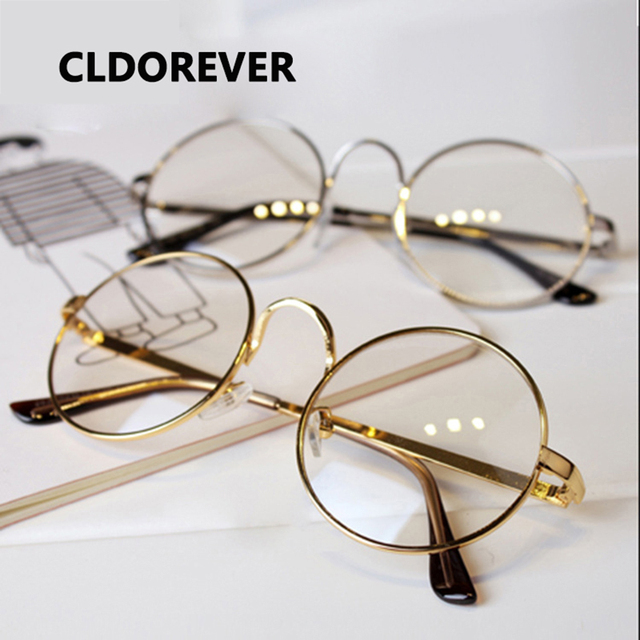 Aliexpress.com : Buy 2018 Fashion Brand Large Metal Round Glasses ...