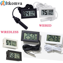 Мини цифровой ЖК-термометр датчик удобный гигрометр манометр холодильник, аквариум мониторинг дисплей датчик влажности