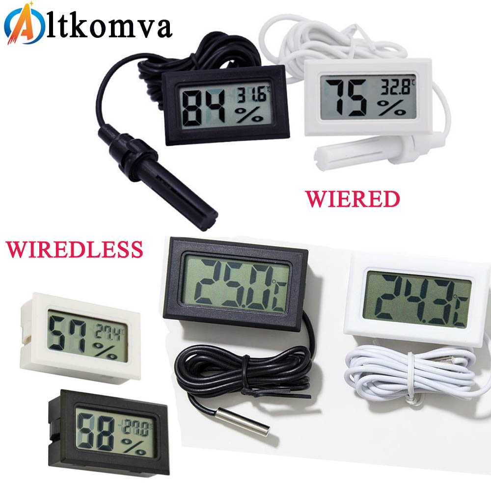 Mini Digital LCD Thermometer Sensor Convenient Hygrometer Gauge Refrigerator Aquarium Monitoring Display Humidity Detector Innrech Market.com