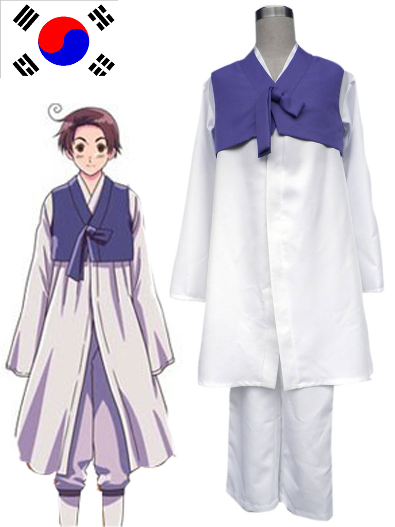 Axis Powers Hetalia Republic of Korea Im Yong Soo Anime Cosplay Costume