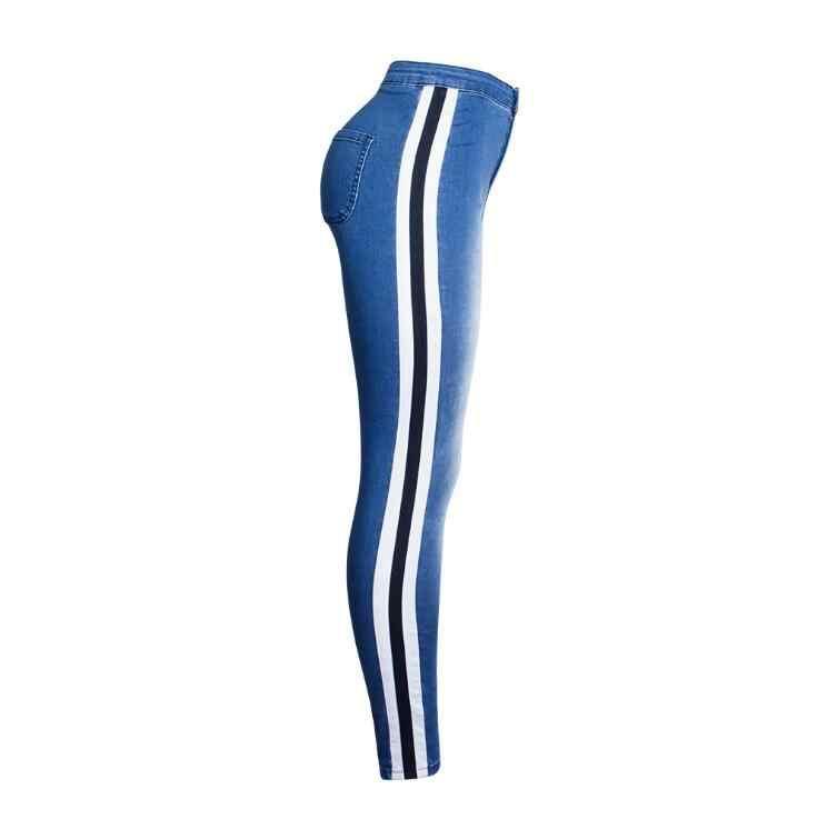 Tang cool/2019 г. Новая брендовая модная шовная обувь на весну-осень, штаны с высокой талией, эластичные узкие штаны джинсы брюки