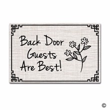 Funny Printed Doormat Entrance Floor Mat Non-slip DoormatBack Door Guests Are Best mat Decorative Non-woven Indoor Outdoor