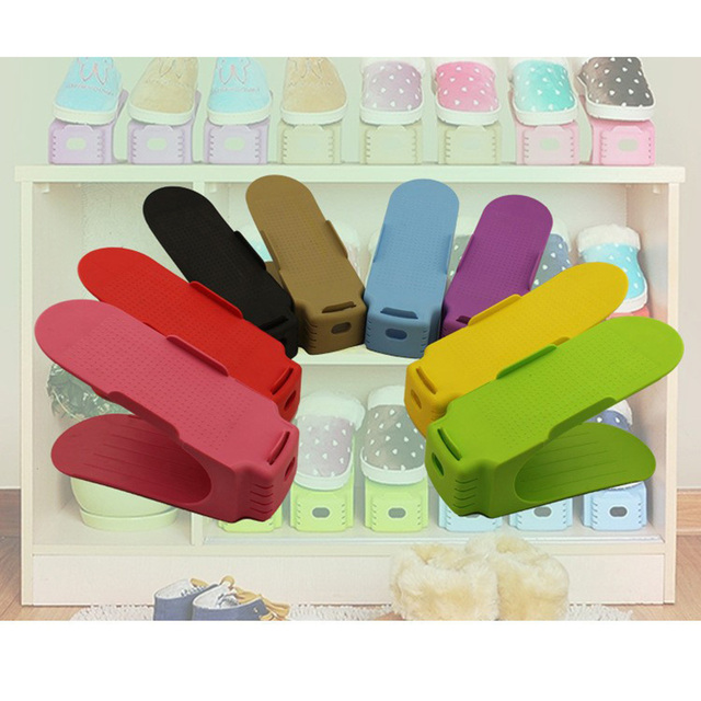 2017 Modern Adjustable Shoe Organizer Storage Shoes Rack Living Room Convenient Shoebox Space Saving Stand Shelf Various Color