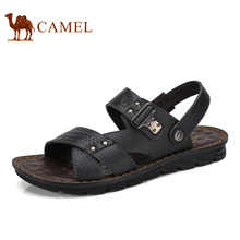 Camel Men's Sandals 2017 Summer New Beach Shoes Breath Summer Leather Exposed Toe Thick Sandals A722287922