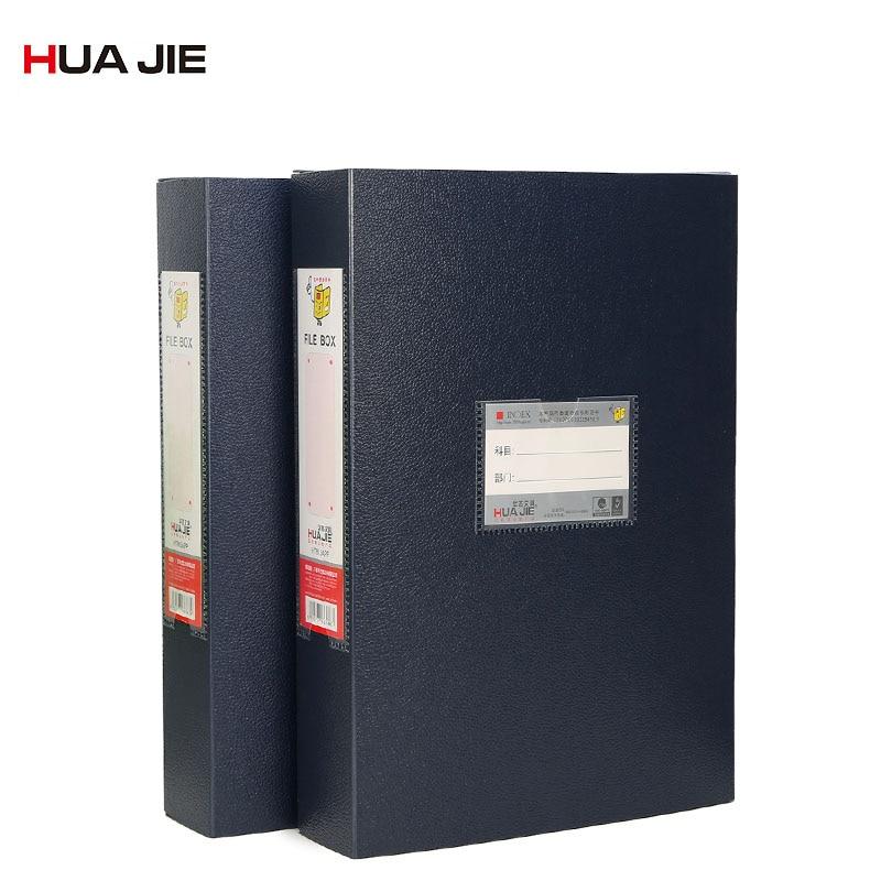 Plastic PP File Box Office Supplies A4 Paper Document Bag File Folder Portable Business Storage Box Filing Product HT813APP