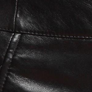 Image 5 - Pantalones cortos de cuero de cintura alta para mujer, Shorts de cuero de alta calidad, ajustados, con lazo cruzado, elegantes, de talla grande 5XL