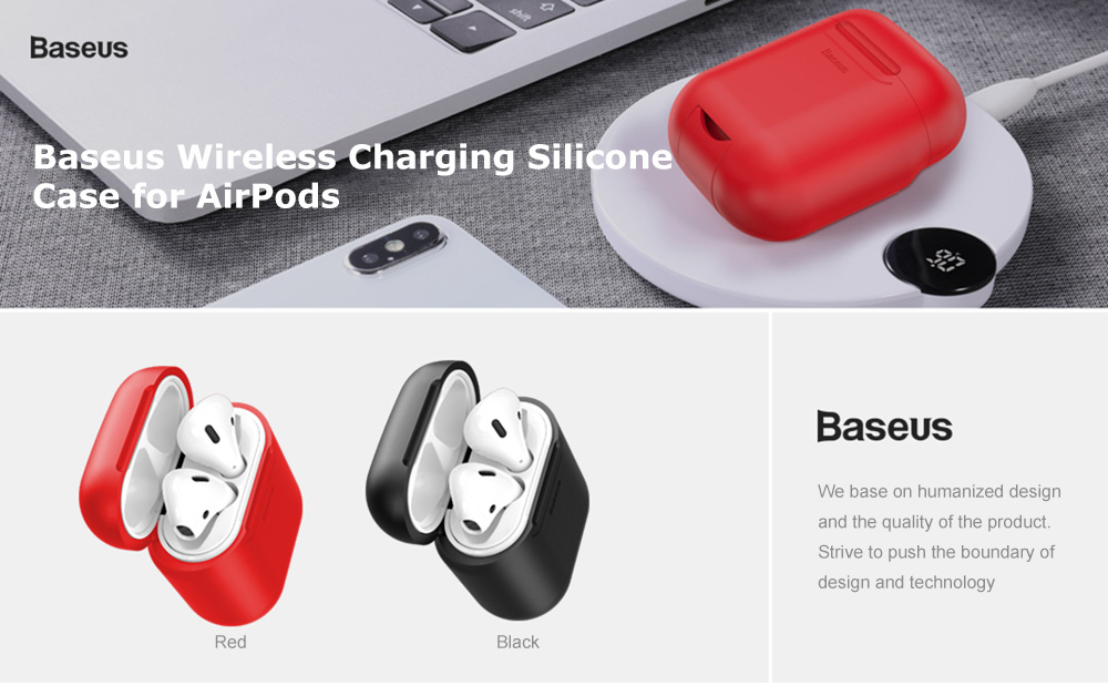 super popular a0326 4ae83 Details about Baseus Wireless Charging Receiver Case Silicone Slim TPU  Cover For Apple Airpods