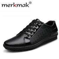 New Brand Korean Casual Men Sneakers Genuine Leather Lace Up Men S Flats Shoes Mens Footwear