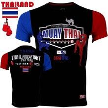 44b87c92fdda9 Vszap Homens MUAY THAI mma Jersey calções Tiger Muay Thai Boxe MMA Luta  Roupas de Manga