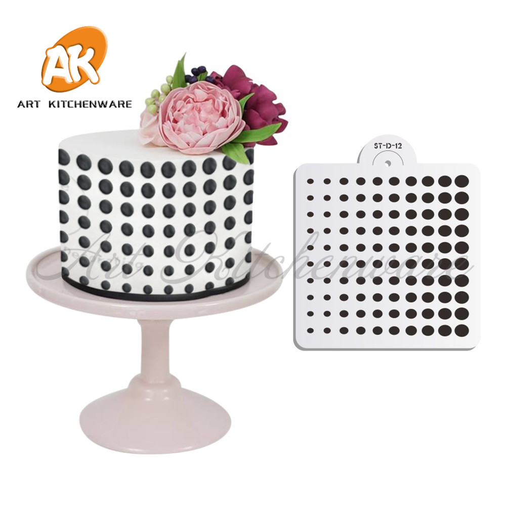 Polka Dot Cake Stencil Party Celebration Design Stencil Nuovo stile Cake Design Stencil Cake Craft Stencil Attrezzi per torte Decorazione