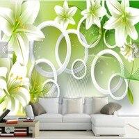 Beibehang Özel fantezi çiçekler el-boyalı zambak desen petal açelya çiçek oturma odası TV zemin allpaper duvarlar için 3 d