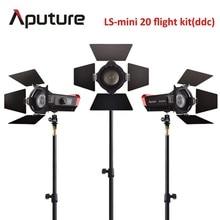Aputure fresnel cob CRI 97 + LS Mini20 vuelo kit ddc luz led fotografía luz led película llevó la luz con la luz soporte