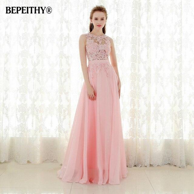 New Arrival Lace Top Long Prom Dresses Vestido De Festa Longo Floor ...