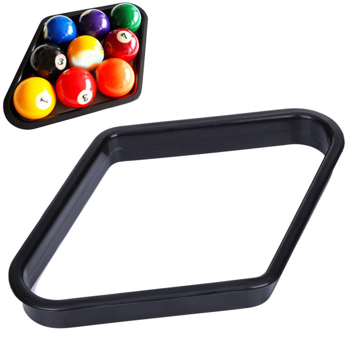 9 Ball Pool Table Billiards Table Rack Plastic Triangle Rack Standard 2 1/4 Size Balls Snooker Billiard Heavy Duty Accessory
