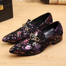 British Shoe Men Genuine Leather Red Floral Carved Slip On Wedding Dress Shoes For Men Evening Party Sapato Social Shoes Male недорого