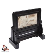 Ebony sculpture handicraft screen plaque home office feng shui furnishing articles new gift