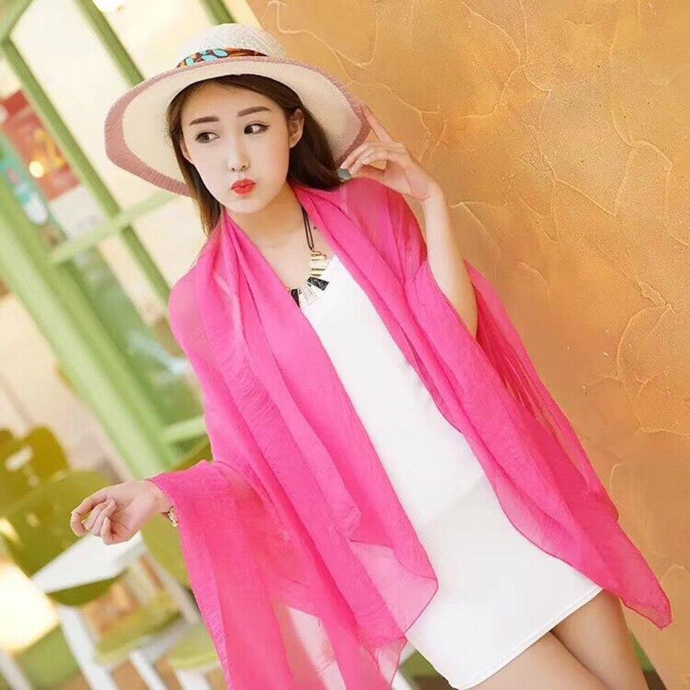 DIY 70Cm*170Cm Sheer Silk Beach Dress Women Swimsuit Cover Up Summer Sun Wear For Swimwear Bikini Bathing Suit Cover Ups