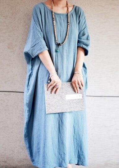 Новое поступление женские свободные длинное обтягивающее платье льняные платья 19003