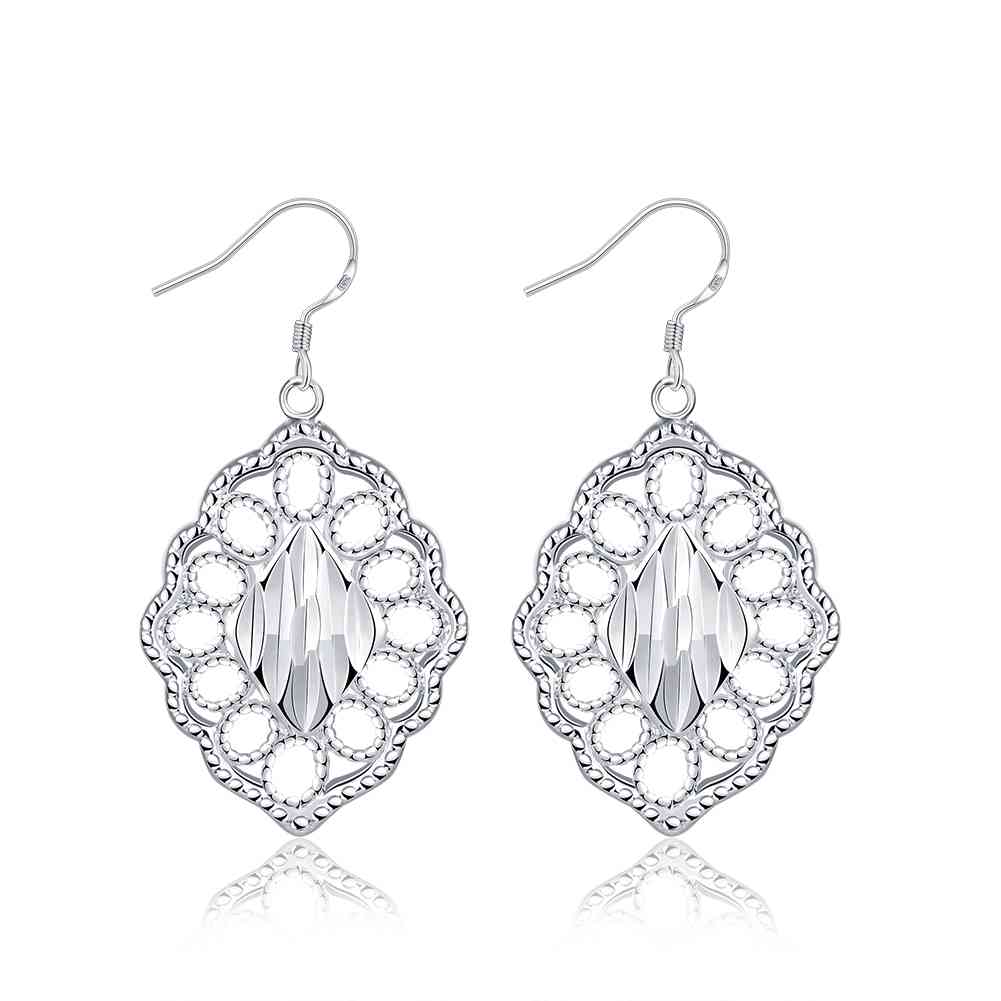 KITEAL Official Store Free Shipping exo silver earrings Lozenge drop brincos de festa margarida SMTE678