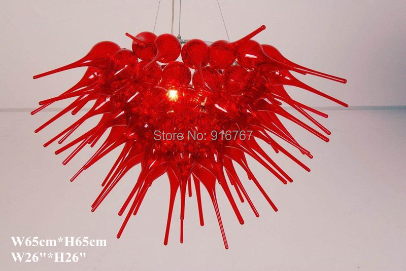Free Shipping Delicate Red Glass Color Led Light ChandelierFree Shipping Delicate Red Glass Color Led Light Chandelier