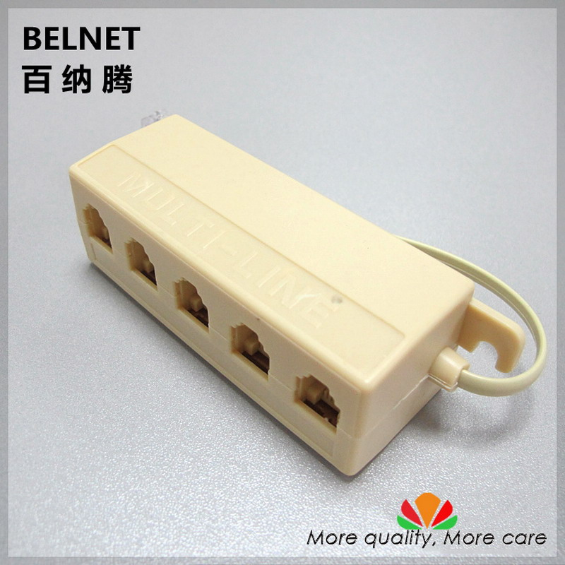 Telephone junction box one line divided into five lines one input five output splitter Telephone multi-line distributor