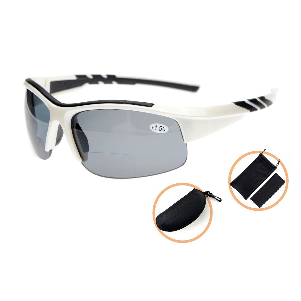 TH6226PGSG Eyekepper TR90 Unbreakable Sports Polycarbonate Polarized Bifocal Half Rimless Sunglasses 1 50 2 0 2