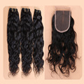 Water Wave Virgin Hair with Closure Brazilian Virgin Hair with Closure 3 Bundles with Closure Water Wave Bundles with Closure