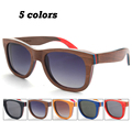2016 New Summer Fashion Handmade Polarized Wooden Frame Glasses Men Women Vintage Unisex Wood Polarised Sun glasses Eyewear