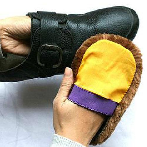 5 X miękka wełna polerowanie buty czyste rękawice do sprzątania szczotka do czyszczenia butów Home #33521