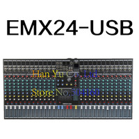 Professional 24 Channel Karaoke Audio Mixer Microphone Digital Sound Mixing Amplifier Console With USB 48V Phantom Power