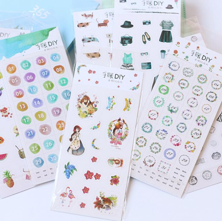 Have Funny Decorative Washi Stickers Scrapbooking Stick Label Diary Stationery Album Stickers spring and fall leaves shape pvc environmental stickers decorative diy scrapbooking keyboard personal diary stationery stickers