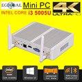 5Gen i3 5005U Eglobal Кну Windows 10 Mini PC Micro PC Barebone Компьютер HD 5500 Графика 4 К HTPC 300 М Wi-Fi Bluetooth VGA HDMI