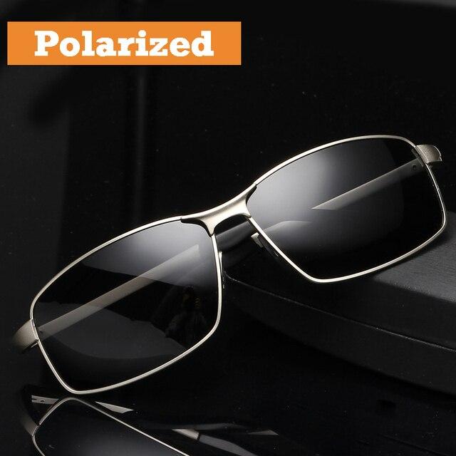 7be6f4d5527d 2017 Okulary Przeciwsłoneczne Polaryzacyjne męskie dla Kierowców Fajne  Prostokąt Jazdy Sun Szkła Moda UV400 Okulary Akcesoria