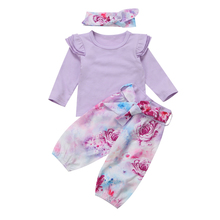 Baby Girl Tops T shirts Tee Long Sleeve Pants Cotton Cute Outfit Set Newborn Kid Clothing Floral Clothes
