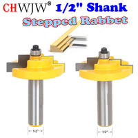 1PC 1 2 Shank Picture Frame Stepped Rabbet Molding Router Bit C3 Carbide Tipped Wood Cutting