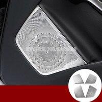 Inner Car Door Speaker Frame Cover Trim 4pcs For Benz CLA C117 X117 W117 2013 2018