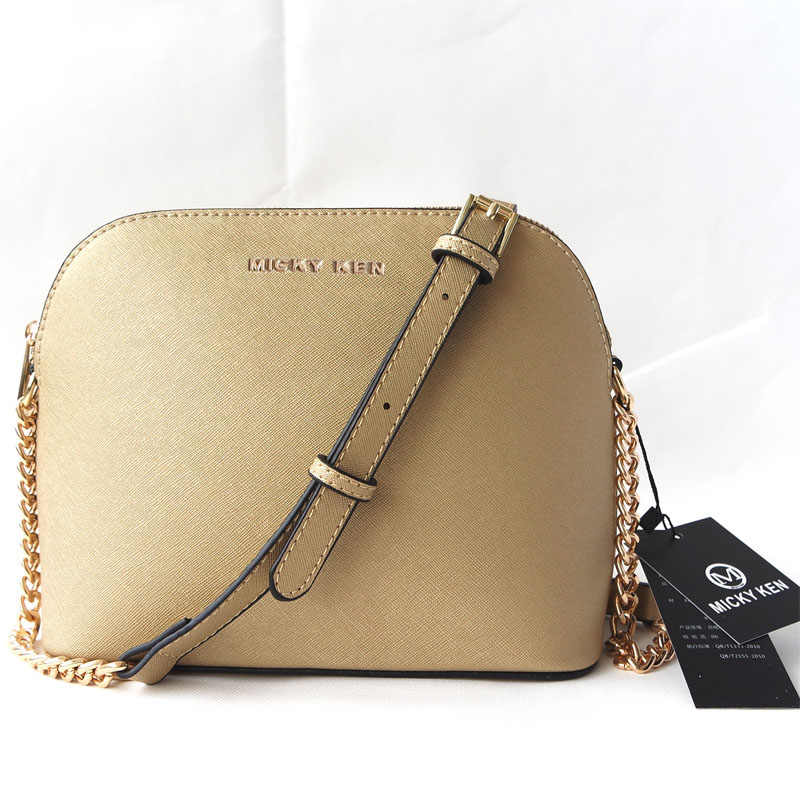 Free Shipping Women's Premium Gold Star Cross Stitch Pattern Leather  Messenger Bag Small Shell Bag Chain Bag Handbag