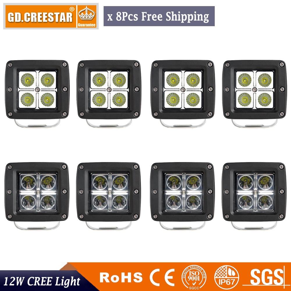 12Watts 3innch kvadratne LED radne svjetiljke 12V IP67 vodootporne - Svjetla automobila - Foto 1