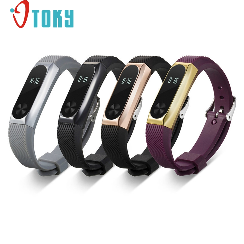 Hot Sale OTOKY Fabulous Replacement Wristband Band Strap + Metal Case Cover For Xiaomi Mi Band 2 Bracelet Drop Shipping #0221