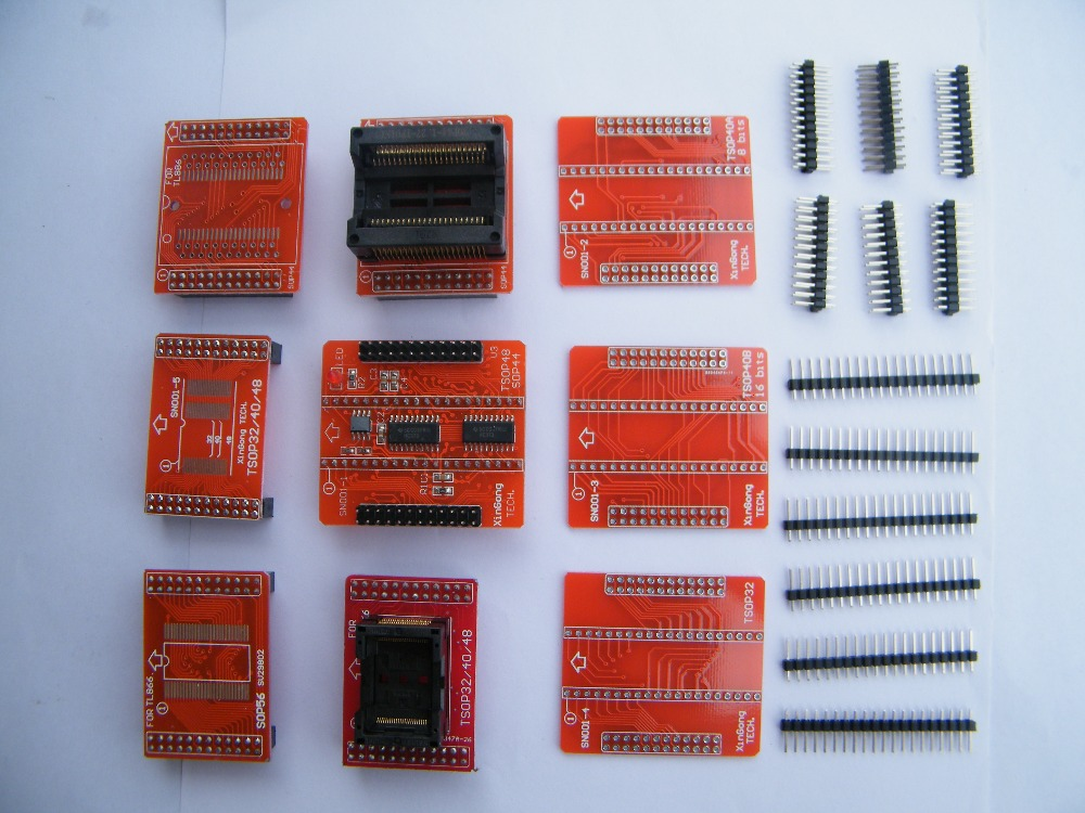 Gratis Verzending 100% originele IC 9 stks Adapter voor TL866A TL866CS TL866II plus Programmeur TSOP32 TSOP40 TSOP48 SOP44 SOP56-in Rekenmachines van Computer & Kantoor op AliExpress - 11.11_Dubbel 11Vrijgezellendag 1