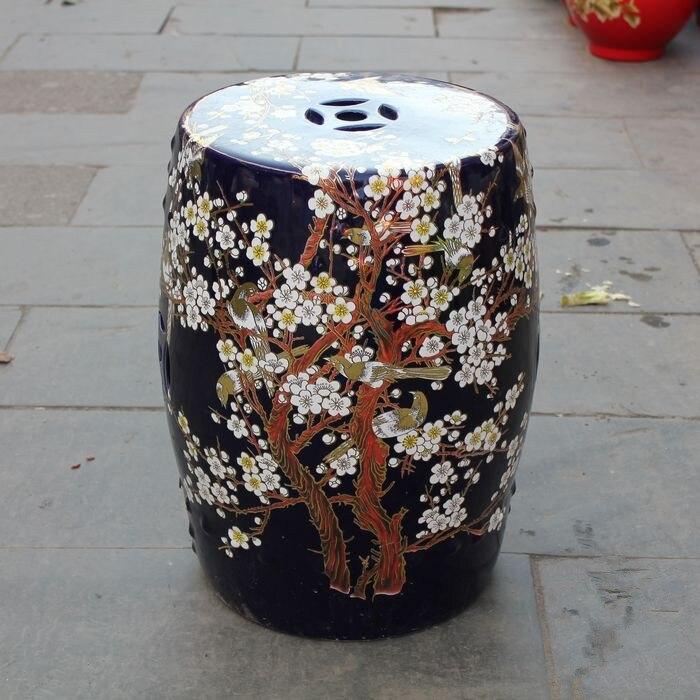 Jingdezhen Indoor Ceramic Antique Home Drum Porcelain Garden Stool Glazed  Hand Painted Round China Ceramic Garden Stool