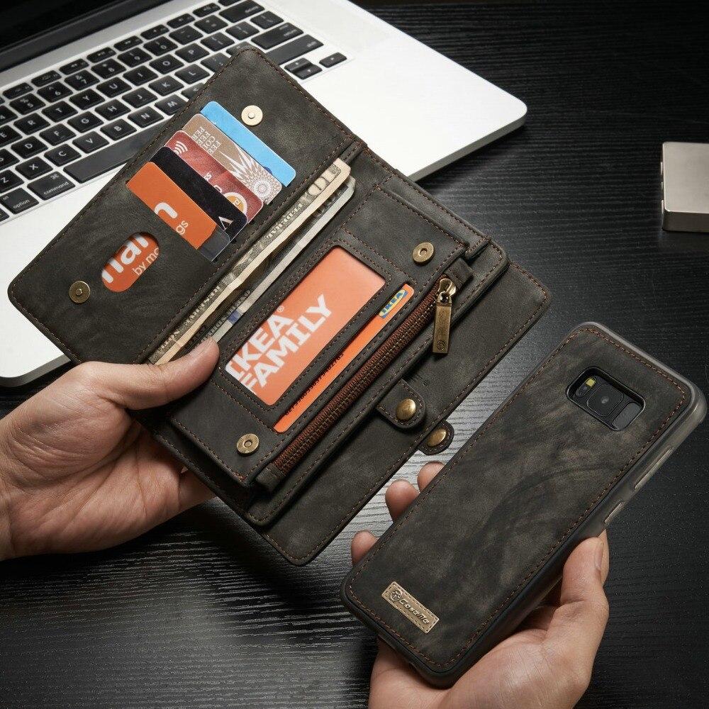 Étui pour Téléphone Portable étui pour samsung Galaxy S9 S9 Plus Étui Portefeuille Multifonction fentes pour Cartes et Couverture Pour S7 S8 Plus Note 8