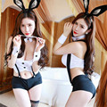 role x fashion Bunny Girl Play the role flirt Taste Straps Rabbit ears bunny costume sexy lingerie latex hood costume cosplay
