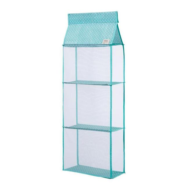 3 Layers Hanging Clothes Storage Box Hanging Shelves Closet Cubby Sweater  Handbag Organizer For Bedroom Bathroom