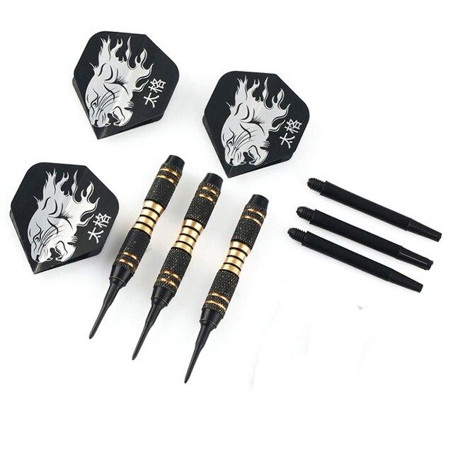3PCS Black Professional Darts 18g Safty Soft Darts Electronic Soft Tip Dardos For Indoor Professional Dartboard Games 4