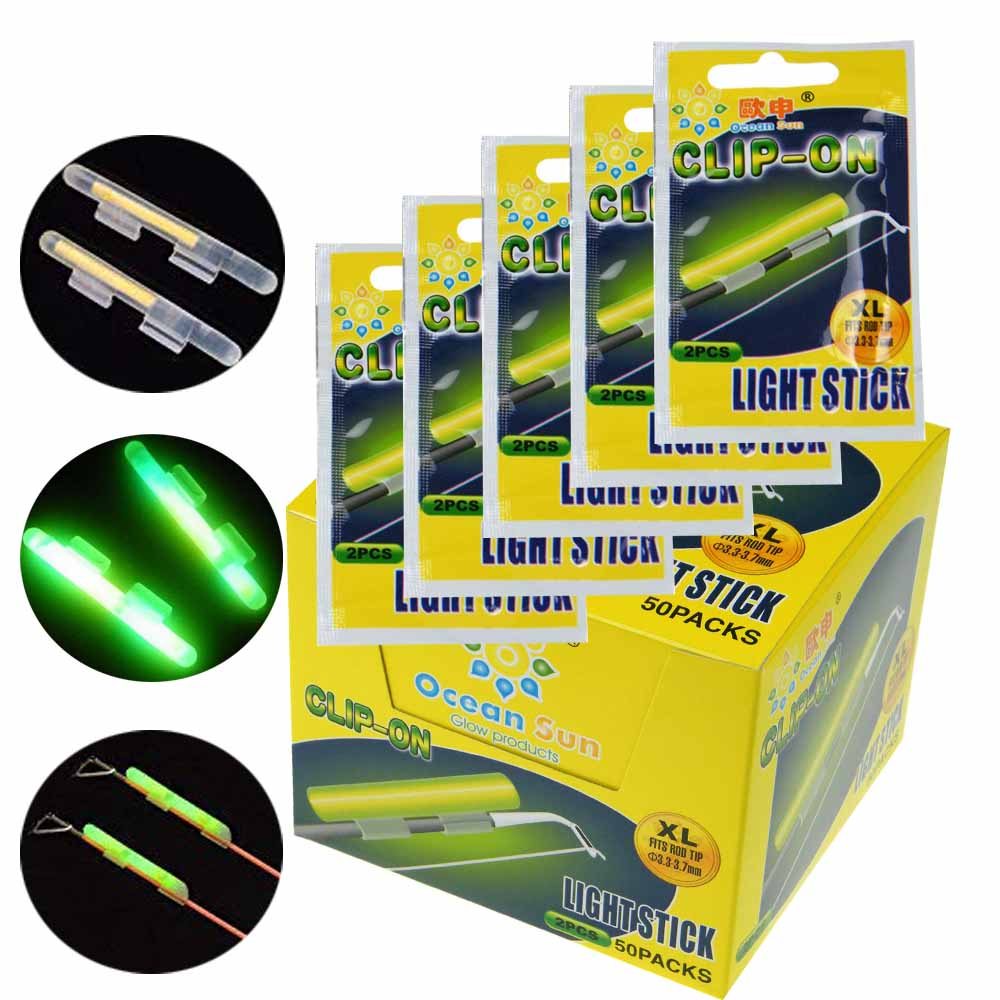 2*LED Glow Night Fishing Light Rod Tip Clip Light Stick for Sea Fishing Rod #P02