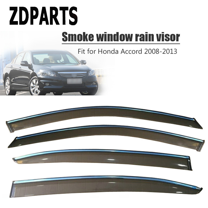 ZDPARTS 4Pcs/Set Car Wind Deflector Sun Guard Rain Wind Vent Visor Cover Trim For Honda Accord 2008 2009 2010 2011 2012 2013-in Awnings & Shelters from Automobiles & Motorcycles    1